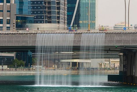 waterfallonsheikhzayedroadbridge